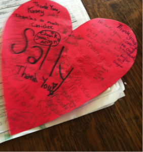 The 5th graders even thanked me with a Valentine!