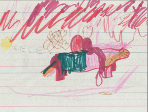 text from the back of the page: My unicorn is named Sparkle. She is obedient! by Cece